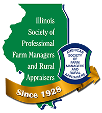 Illinois Society of Professioanl Farm Managers and Rural Appaisers anniversary logo